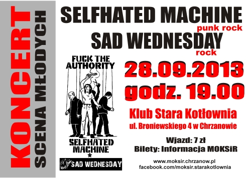 WEDNESDAY I SELFHATED MACHINE ZAGRAJĄ W KOTŁOWNI